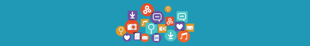 Social media icons that may be used during digital marketing efforts