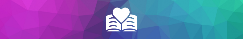 icon of a book with a heart on the pages