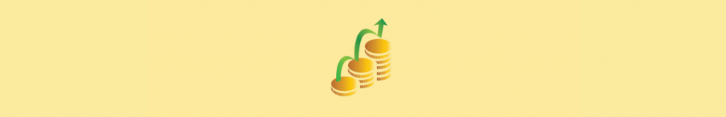 cartoon of coins increasing