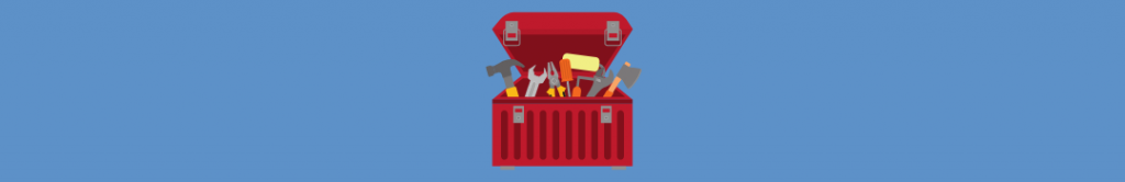 cartoon of a toolbox