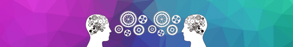 icon of people with gears turning in their heads, symbolizing meeting of the minds